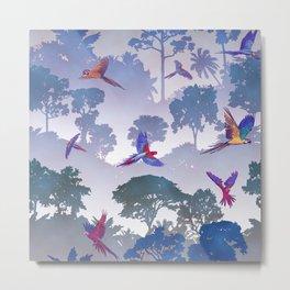 Macaw Canopy // Purple Metal Print