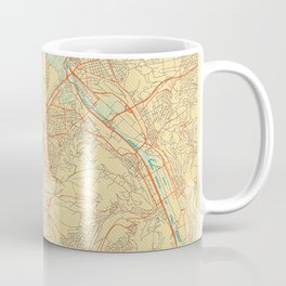 Stuttgart Map Retro Coffee Mug