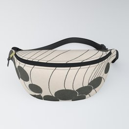 Art Nouveau Black Dots Fanny Pack
