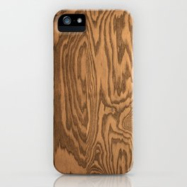 Wood 5, heavily grained wood Horizontal grain iPhone Case