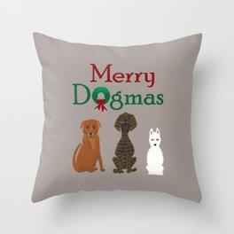 Merry Dogmas! Throw Pillow