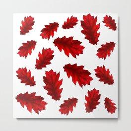 red chestnut leaves, season, autumn motive, nature, forest Metal Print
