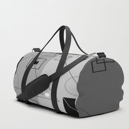 Gray Geometry 3 Duffle Bag