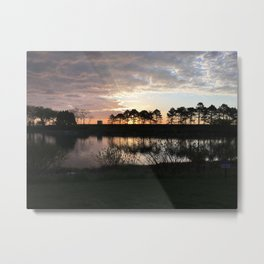 Early Morning By the Lake Metal Print