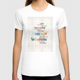 Colorful Serenity Prayer by Sharon Cummings T-shirt
