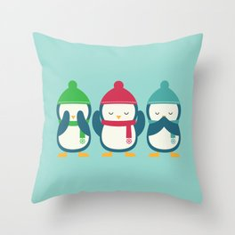 No Evil In Holiday Throw Pillow