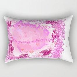 Pink art print Rectangular Pillow