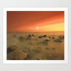 Moon Rocks Art Print