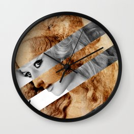 Leonardo's Head of Woman & Brigitte Bardot Wall Clock