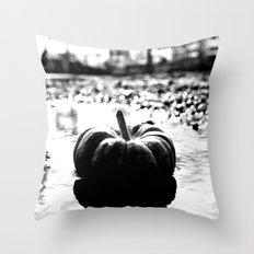 Power plant pumpkin Throw Pillow