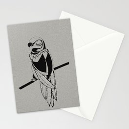 Semi-Abstract Bird Stationery Cards