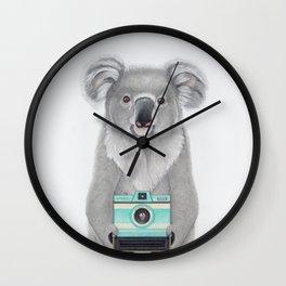 This Koala is a Tourist / Este Koala es un Turista Wall Clock