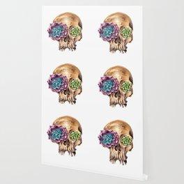 Blooming skull Wallpaper