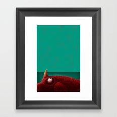 Red Creature Framed Art Print