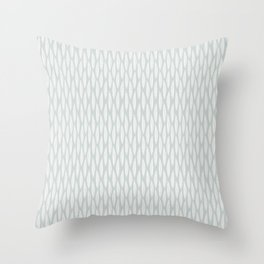 Stamped Leaves in Wintergreen Throw Pillow