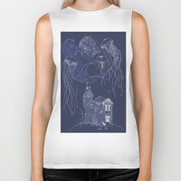 jelly fish Biker Tanks featuring Jelly Fish by Jessica Bowman Illustrates