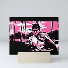 𝐇.𝕋.Ǥ.b.ㄚ@ IG | Epic Movie Scenes - Scarface - Tony Montana - Al Pacino - HASSA 29k Mini Art Print