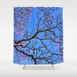 Blue Jacaranda 2/3 Shower Curtain