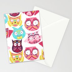 Ornate Owls Stationery Cards