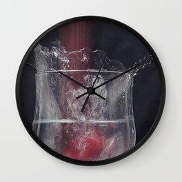 Fraise splash Wall Clock