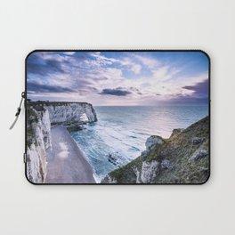 Natural Rock Arch -  ocean, coastal cliffs, waves, clouds, Laptop Sleeve
