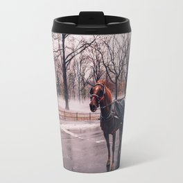 NYC Horse and Carriage Travel Mug