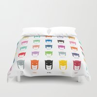 pantone Duvet Covers featuring Pantone Knight by James Northcote
