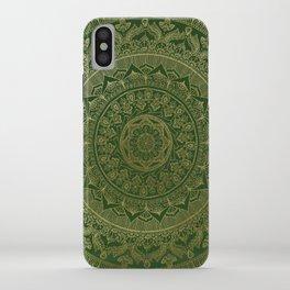 Mandala Royal - Green and Gold iPhone Case