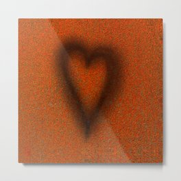 Blow torched love heart Metal Print