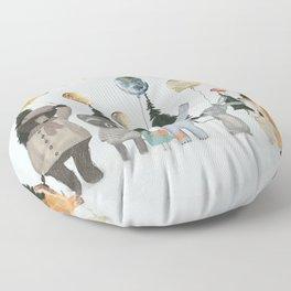 the solar parade Floor Pillow