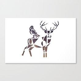 deer & owl Canvas Print