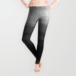 Black and Gold grunge stripes on modern grey concrete abstract background- Stripe-Striped Leggings
