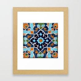 Mediterranean tile Framed Art Print