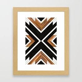 Urban Tribal Pattern 1 - Concrete and Wood Framed Art Print