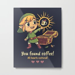 The Legendary Coffee Metal Print