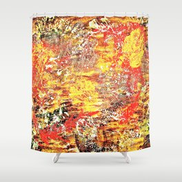 Golden Autumn Abstract Shower Curtain