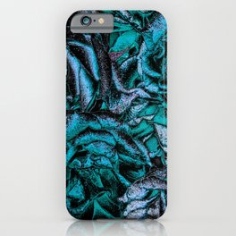 Great Garden Roses with silver dust,turquoise iPhone Case