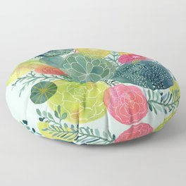 Succulent Circles Floor Pillow