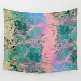 Pink and Green Paint Wall Tapestry