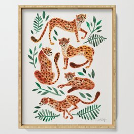 Cheetah Collection – Orange & Green Palette Serving Tray