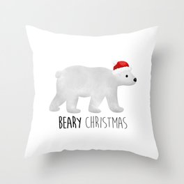 Beary Christmas | Polar Bear Throw Pillow