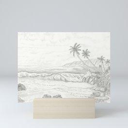 Ocean View Oasis Mini Art Print