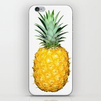 pinapple iPhone & iPod Skins featuring Pineapple by CumulusFactory
