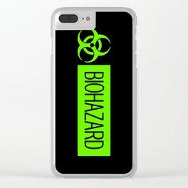 HAZMAT: Biohazard (Slime Green & Black) Clear iPhone Case