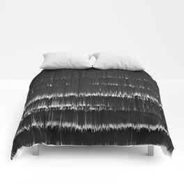 BLACK LAGOON - Abstract Digital Image Texture Glitch Art Comforters