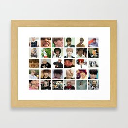 BTS Memes collection Framed Art Print
