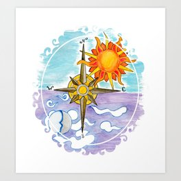 Compass is Set v.1 Art Print