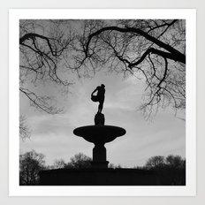 'Pulitzer Fountain NYC' Art Print