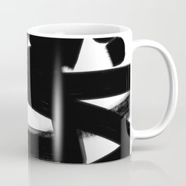 Thinking Out Loud - Black and white abstract painting, raw brush strokes Coffee Mug