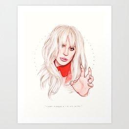 Billboard Woman of the Year Art Print